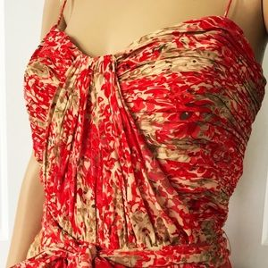 Ralph Lauren Dresses - Ralph Lauren spaghetti Strap Pleated Aline Dress